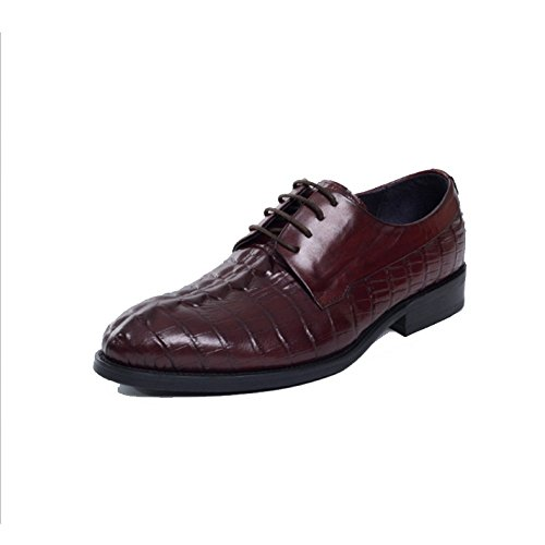 Casuale Matrimonio Shoes Elegante Fionda Scarpe Brown Maschi Oxford Tendenza Punta Comfort Europa aqWBT