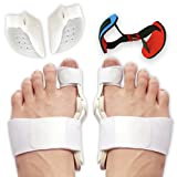 Bunion Corrector and Bunion Splint Care Kit for Bunion Relief, Hallux Valgus Corrector, Big Toe Straightener Brace, Big Toe Joint Protector, Bunion Pads Toe Separators Spacers Surgery Aid Night