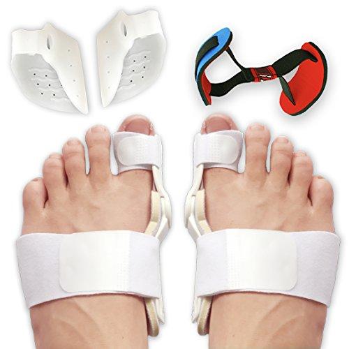 (Bunion Corrector and Bunion Splint Care Kit for Bunion Relief, Hallux Valgus Corrector, Big Toe Straightener Brace, Big Toe Joint Protector, Bunion Pads Toe Separators Spacers Surgery Aid Night)
