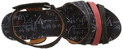ART VALBY - Sandalias de vestir de lona para mujer negro - Schwarz (INK)