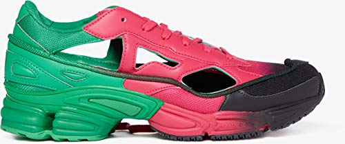 adidas Women's x RAF Simons Replicant Ozweego Sneakers, Pink/Adidas Green/Core Black, 9 Medium US