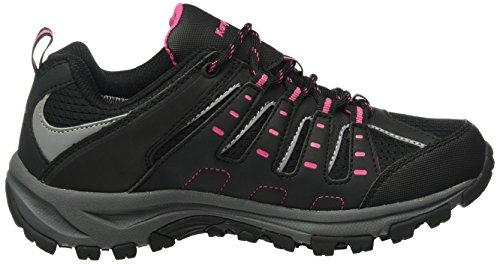 KangaROOS Botar W, Zapatos de Cordones Derby para Mujer Negro - Schwarz (black/magenta 565)