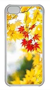 iPhone 5c case, Cute Maple Leaf 3 iPhone 5c Cover, iPhone 5c Cases, Hard Clear iPhone 5c Covers