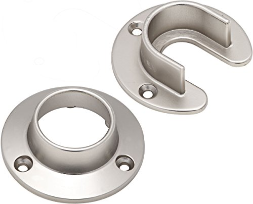 Stanley Home Designs 820167 Closet Flange Set, Satin Nickel