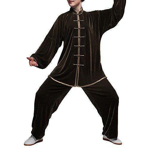 Fluid Vestiti in Velluto Unisex Uomo Donna per Tai Chi e Tempo Libero in Stile Cinese #102
