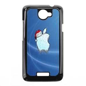 HTC One X Cell Phone Case Black Santa Apple Xoapg