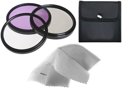 Made by Optics SonyAlpha DSLR-A500 High Grade Multi-Coated 3 Piece Lens Filter Kit 55mm Multi-Threaded Nwv Direct Microfiber Cleaning Cloth.