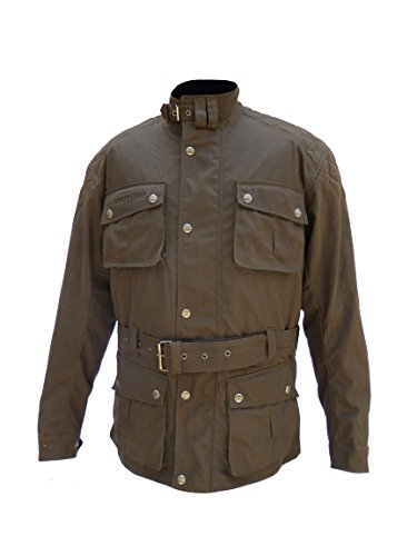 Waxed Cotton Motorcycle Jacket - 7