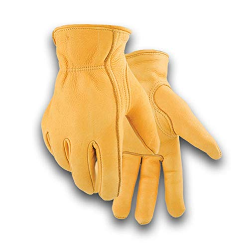 Golden Stag Work Glove Heavy Duty Economy Lined Elkskin Glove,WINTER LINED X-Small, 855 (Golden Stag Gloves)