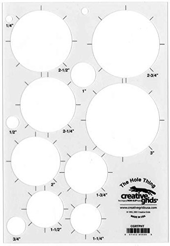 "Creative Grids ""The Hole Thing"" Quilting Ruler Template f..."