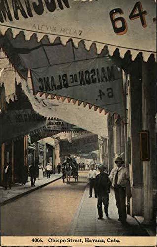 - Obispo Street, Havana, Cuba Havana, Cuba Original Vintage Postcard
