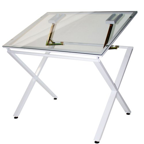 Martin X-Factor Drawing and Hobby Table with Large 30 by 42-Inch Glass Top by Martin