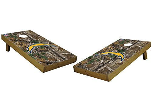 PROLINE NFL Los Angeles Chargers 2'x4' Cornhole Board Set with Bluetooth Speakers - Xtra Camo by PROLINE