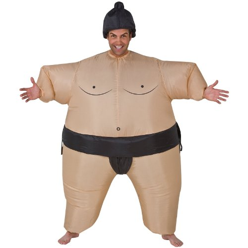 Inflatable Sumo Wrestler Costume - One Size - Chest Size 40-48 (Mens Inflatable Sumo Costume)