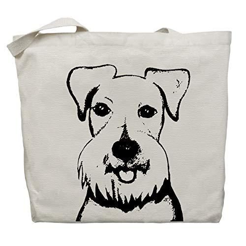 Baby the Schnauzer Tote Bag by Pet Studio Art