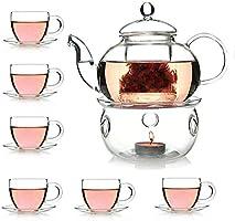Liying Borosilicate Heat-resistant Glass Tea Pot Set 14 Piece Gift Set