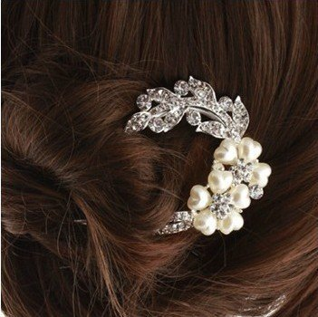 DGI MART Personal Hair Care Accessories U Shape Rhinestones
