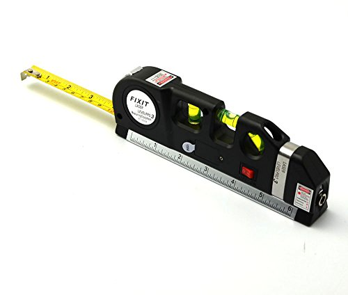 LNL High Performance Laser level,Multipurpose Laser,measure Line 8ft+ Measure Tape Ruler Adjusted Standard and Metric Rulers