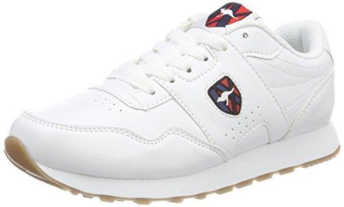 Mens Kangaroo Sneakers - KangaROOS Unisex Adults' Retro Run Trainers, White (White 0000), 6.5 UK