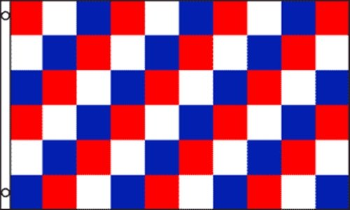 3x5 Red White & Blue Checkered Business Outdoor Advertising