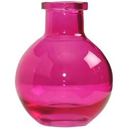Ivy Lane Design 5-Pack Transparent Glass Vases, 3.5-Inch, Hot Pink
