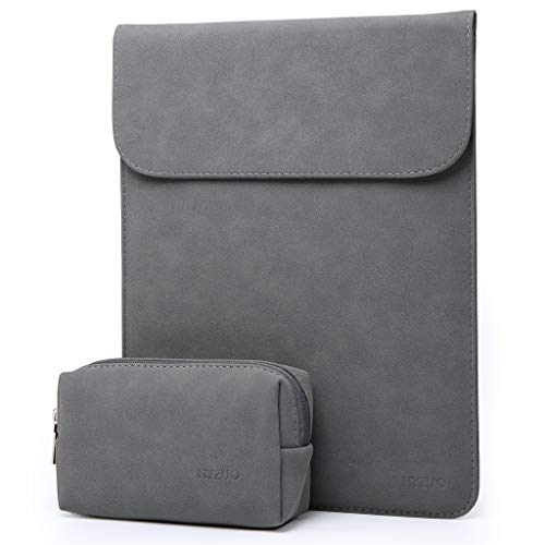 HYZUO 13 Inch Laptop Sleeve Case Compatible with 2018 MacBook Air 13 A1932/ MacBook Pro 13 Retina 2016 2017 2018/ Surface Pro 6 5 4/ Dell XPS/Huawei MateBook 13 Pro with Small Bag, Faux Suede Leather (Best Laptop Sleeve For Macbook Pro 13)