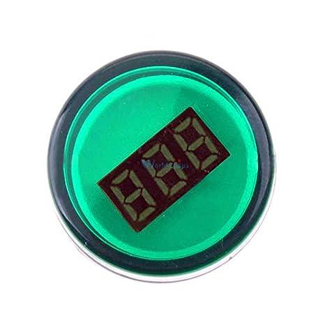 Green Color 22mm Led Digital Display Gauge Volt Voltmeter Voltage Meter Indicator Pilot Light T90 Ac 60v-500v 0-50a Electronic Components & Supplies Led Displays