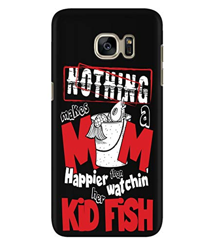 Design for Samsung Galaxy S7 Case, Makes A Mom Happies Samsung Case, Whatching Her Kid Fish Galaxy S7 Case (Samsung Galaxy S7 Case - Black) ()