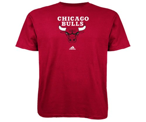 NBA Men's Chicago Bulls Short Sleeve T- Shirt (Red, Small)