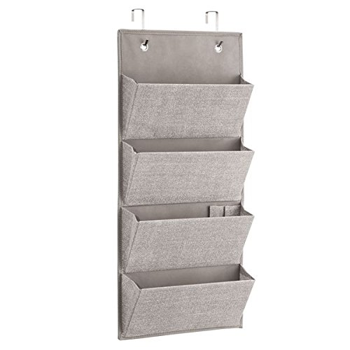 Over-Door Fabric Closet Storage Organizer for Clutch Purses, Handbags, Scarves