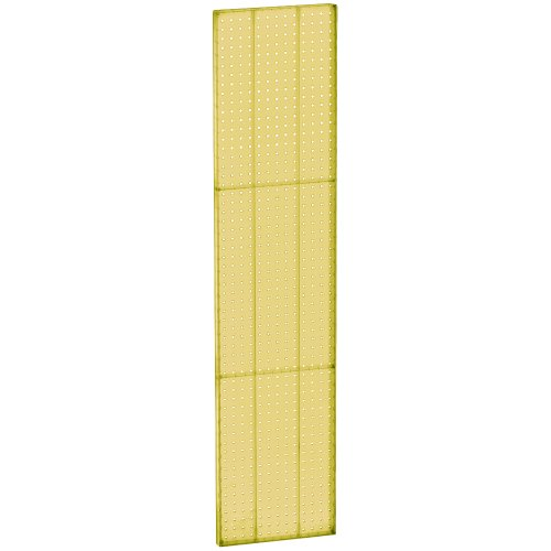 Azar 771360-YEL Pegboard 1-Sided Wall Panel, Yellow Translucent Color, 2-Pack