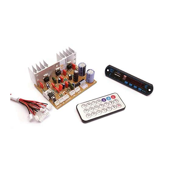 Electronicspices Combo of Audio Amplifier Board 100W with Bass Boost Support TDA2030 Based and Bluetooth FM Audio Player