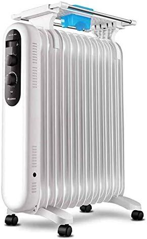 ヒーター、13ピース家庭用暖房、加湿と3速サーモスタット用電気暖房用オイルラジエーターと温暖化電気ヒーター簡単に移動します