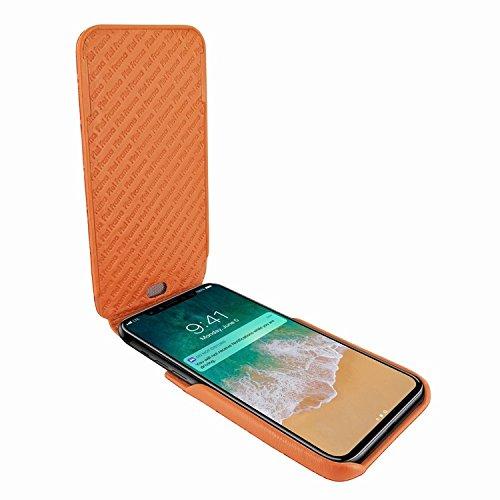 Piel Frama 792 Orange Crocodile iMagnum Leather Case for Apple iPhone X by Piel Frama