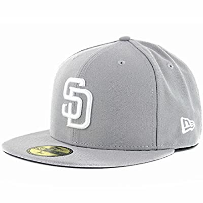 New Era 59Fifty San Diego Padres GY WH Fitted Hat (Grey/White) Men's MLB Cap