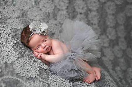 Aiming Nette Prinzessin Neugeborene Fotografie Props Baby-Kost/üm-Ausstattung mit Blumen-Stirnband-Baby-Sommer-Kleid