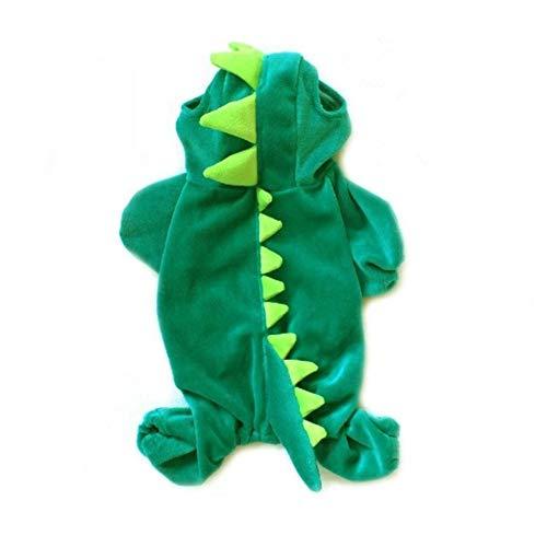 NACOCO Dog Dinosaur Design Costume Green Pet Clothes for Medium & Large Dog (#18) ()