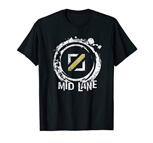 Mid Lane League LoL Gamer T-Shirt Tees for Legends