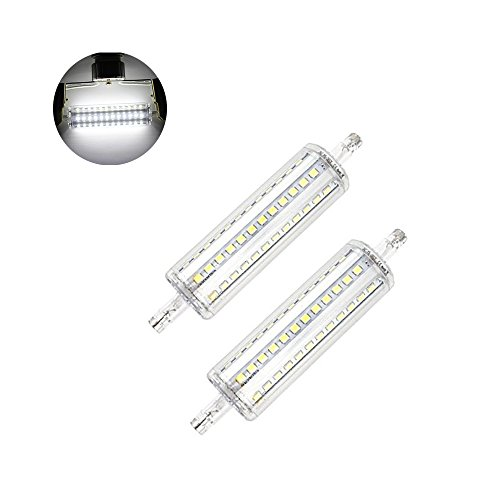 BAILIDA 2-pack 10W R7S Base LED Light Bulb J118 Double Ended J type LED Replacement for Halogen Flood Lamp 100W Equal (Non-dimmable) (Daylight) by BAILIDA