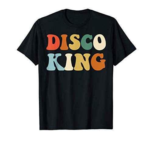 Disco King T-Shirt 1970s Disco Queen Matching Couple Shirts