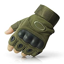 KeepCart Nylon Tactical Half Finger Gloves for Sports, Hiking, Cyclling, Travelling, Camping, Outdoor, Motorcycle Riding…