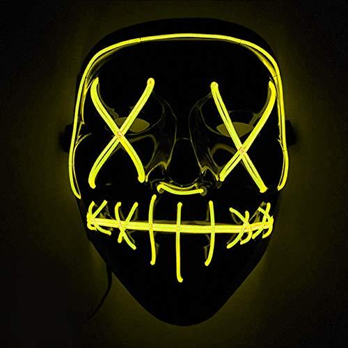 🥇 Immoch Halloween LED Máscaras Adultos LED Mask para la Fiesta de Disfraces