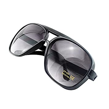 carejoy (TM) Farben Sonnenbrille Spiegel Mode Stil Shades Herren Frauen UV-Schutz Sonnenbrille für Sport Angeln Fahren Laufen Radfahren Fahrrad Motorrad Bike, hellbraun