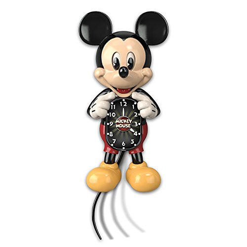 Disney Mickey Mouse Wall Clock with Moving Eyes and Tail by The Bradford Exchange by Bradford Exchange