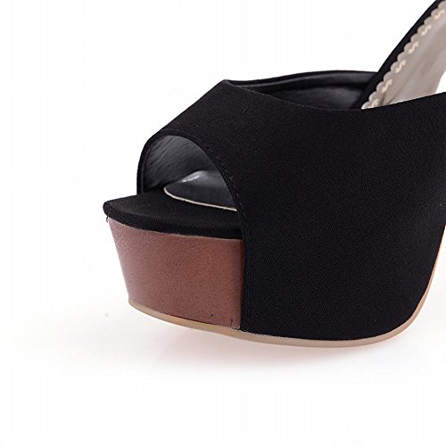 Black Sexy Sandal Heel High Foot Womens Charm Toe Platform Peep Slipper Opqvwx1FE