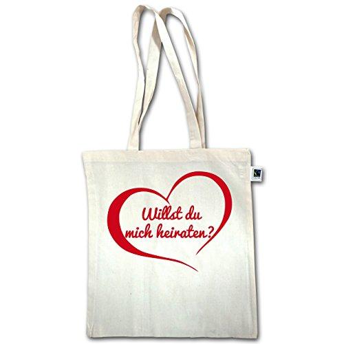 San Valentino - Vuoi Sposarmi? Cuore - Unisize - Natural - Xt600 - Manico Lungo In Juta Bag