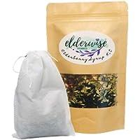 Elderberry Syrup Kit - Makes approx. 16oz - Comes with Brewing Bag - Organic Ingredients - DIY - Elderberries - Rosehips - Ginger - Echinacea - Cinnamon - Cloves - Elderwise Organics