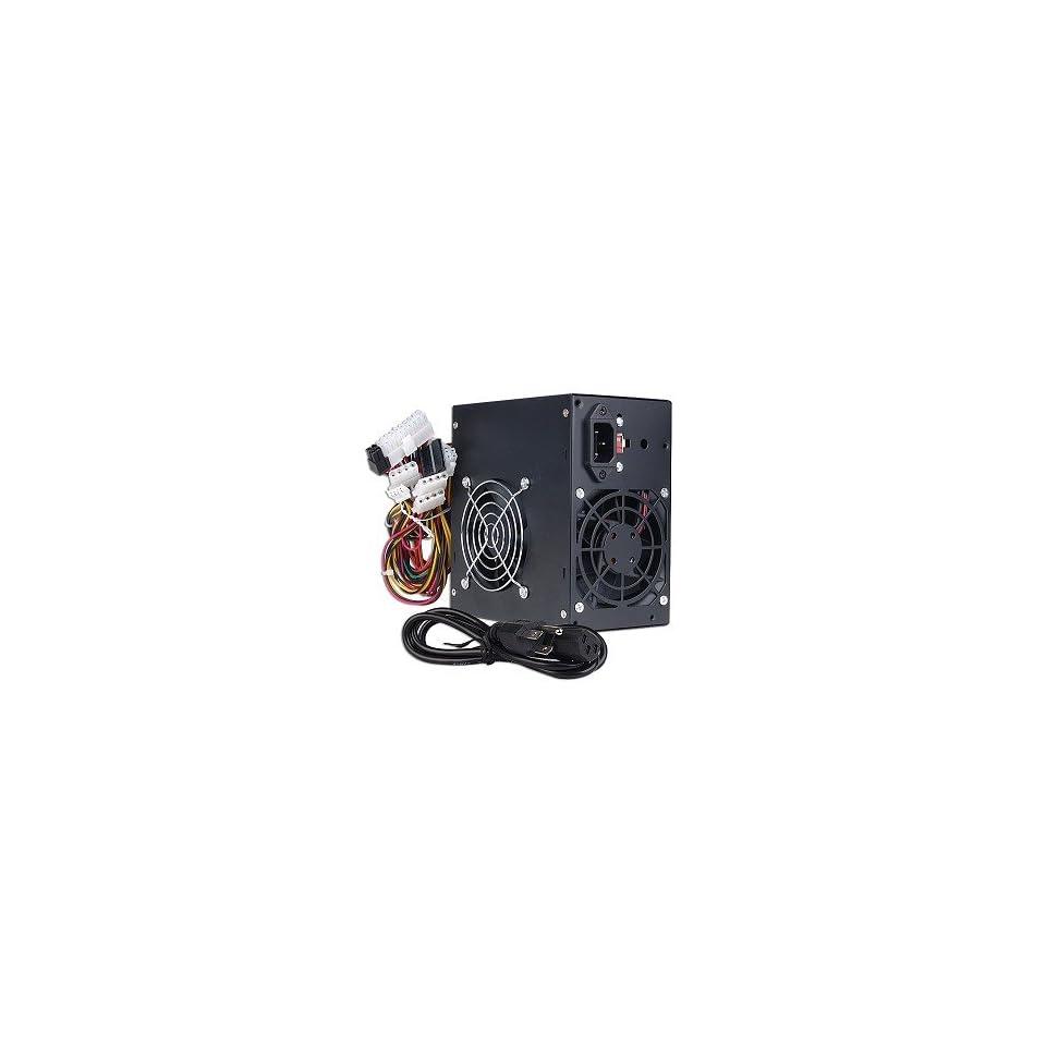 GenMax 480W 20+4 pin Dual Fan ATX PSU w/SATA & PCI Express (Black)