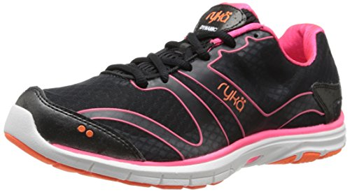 RYKÄ Dynamic La Capacitación de La Mujer Zapatos Black/Coral Rose/Atomic Orange