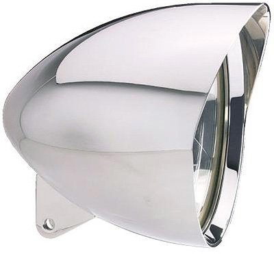 Headwinds 1-7500MAA 7 Concours Mariah Bullet Headlight Polished Aluminum for Harley-Davidson ()